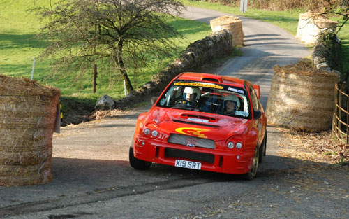 Subaru Impreza at Boconnoc on Tour of Cornwall